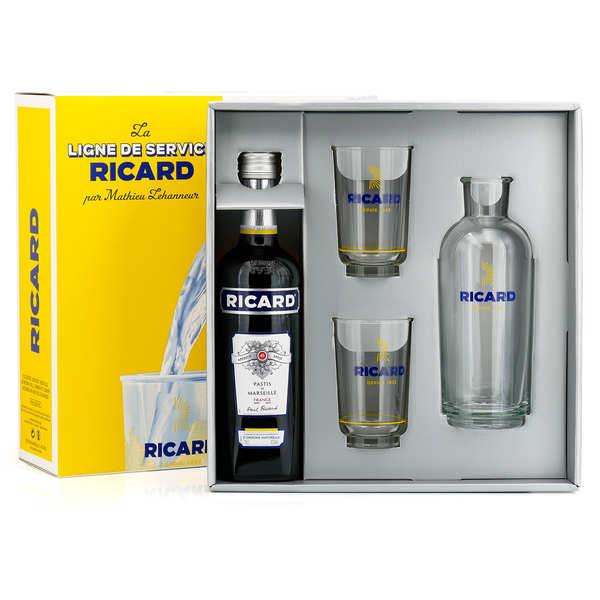 Coffret Ricard Lehanneur 1 carafe 2 verres