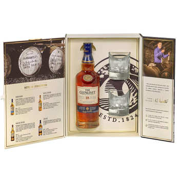 Glenlivet - Whisky the Glenlivet 18 ans d'âge - coffret 4 verres 43%