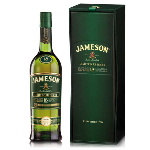 Whisky Jameson 18 ans d'âge - Limited Reserve 40%