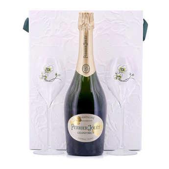 Champagne Perrier-Jouët - Champagne Perrier Jouët grand brut - Coffret 2 verres