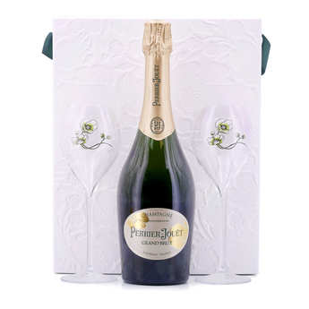 Champagne Perrier-Jouët - Perrier Jouët Brut Champagne - 2 Glasses Case