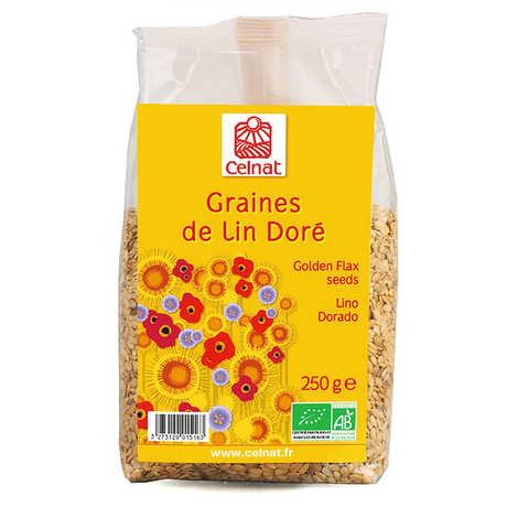 Celnat - Organic golden flax seeds