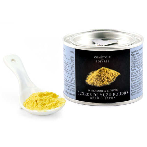 yuzu peel in powder le comptoir des poivres. Black Bedroom Furniture Sets. Home Design Ideas
