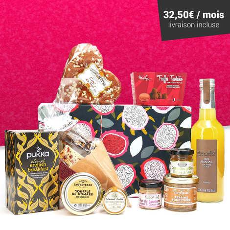 - Box découvertes gastronomiques abonnement 6 mois