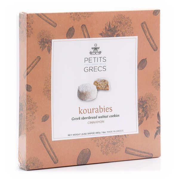 Kourabiedes grecs aux noix, noix de pécan et cannelle