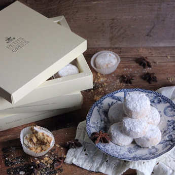 Petits Grecs - Greek Kourabiedes - Walnut, Pecan Nut And Cinnamon Biscuits