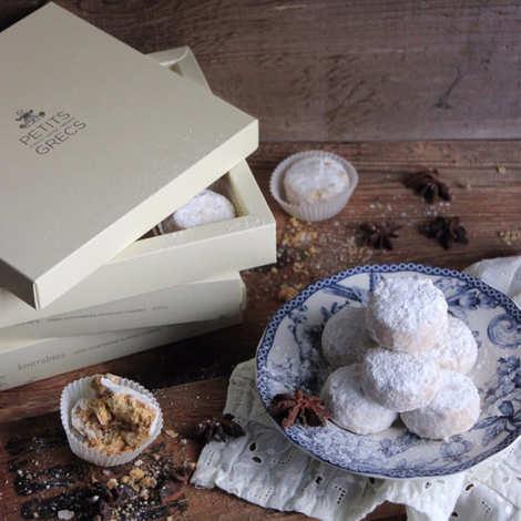 Petits Grecs - Greek Kourabiedes - Walnut, Pecan Nut And Cinnamon Biscuits