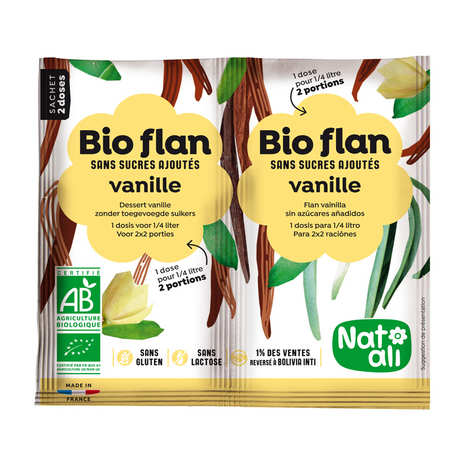 Nat-Ali - Bio Flan parfum vanille sans sucres ajoutés