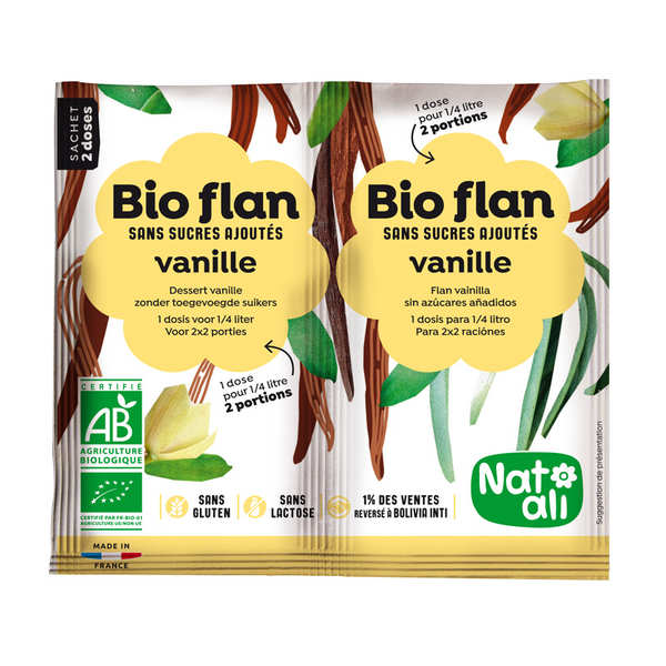 Bio flan non sucré parfum vanille