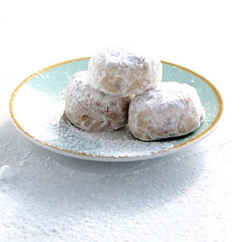 Petits Grecs - Greek Kourabiedes - Pistachio And Apiaceae Biscuits