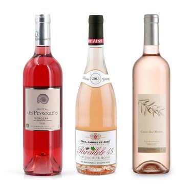 Offre découverte Plaisir - 3 vins rosés