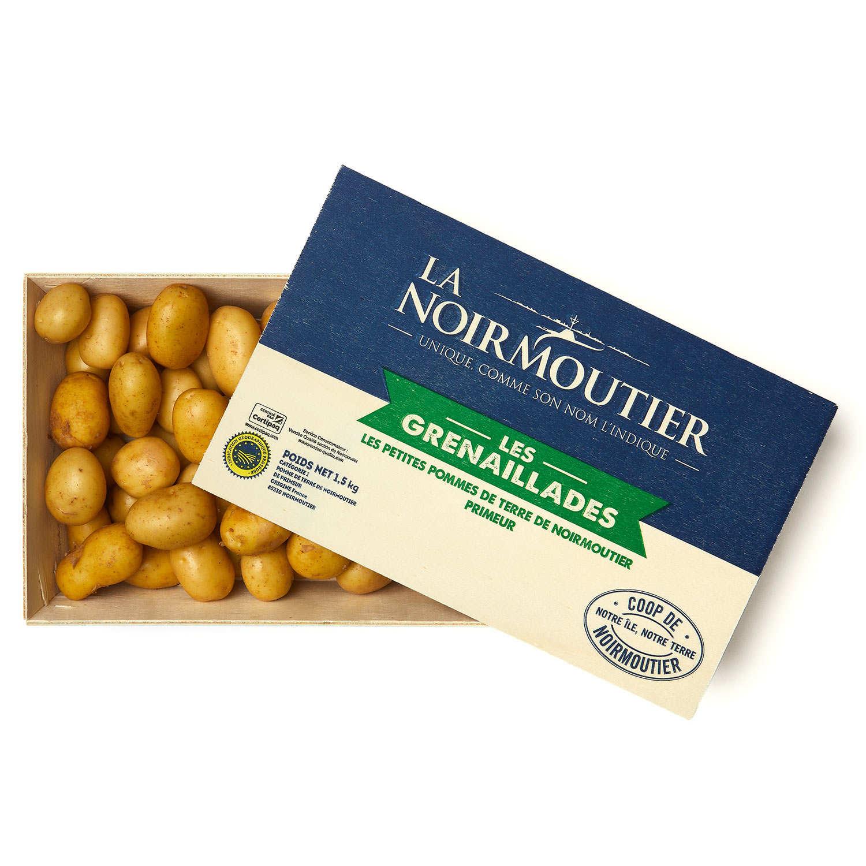 Bourriche de pommes de terre primeur de Noirmoutier - Grenailles