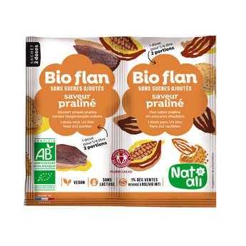 Nat-Ali - Bio flan non sucré parfum praliné