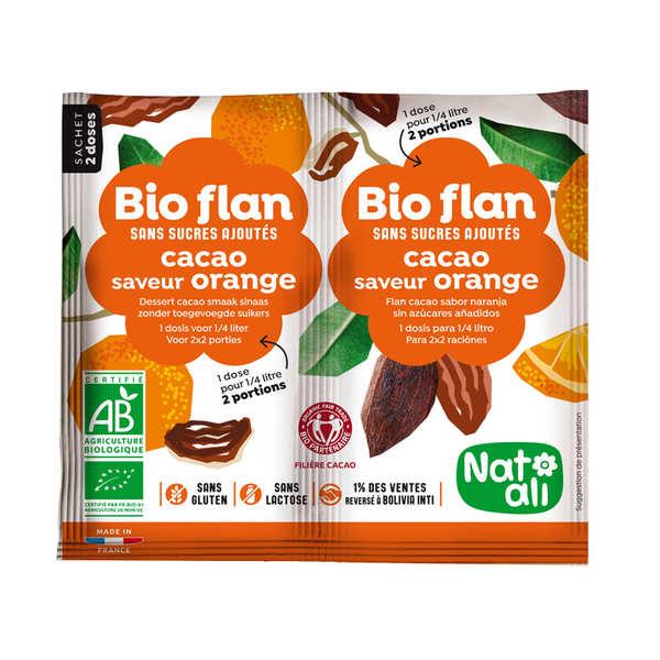 Bio flan non sucré parfum chocolat / orange
