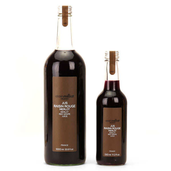 Pur jus de raisin rouge Merlot - Alain Milliat