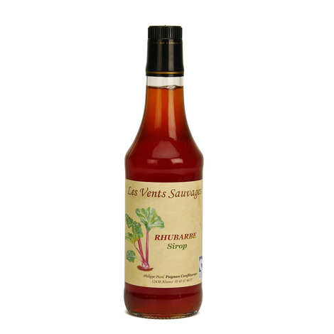 Les vents sauvages - Sirop de rhubarbe bio