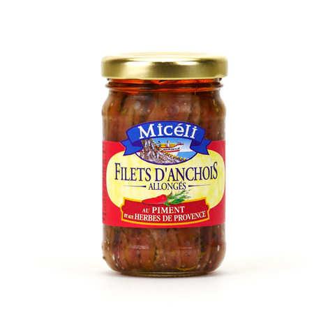 Conserverie Miceli - Filets d'anchois aux piments et herbes de Provence