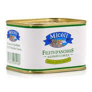 Conserverie Miceli - Filets d'anchois à l'huile végétale