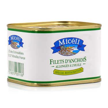 Filets d'anchois à l'huile végétale
