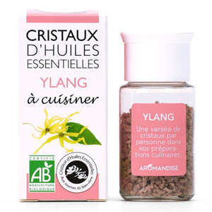 Aromandise - Ylang Ylang - Cristaux d'huiles essentielles à cuisiner - Bio