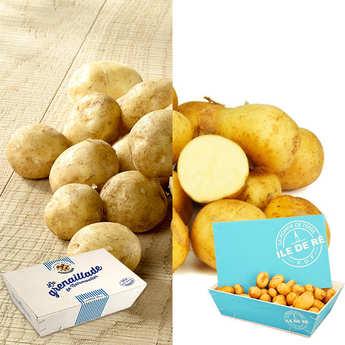 - Lot de 2 bourriches de pommes de terre primeur