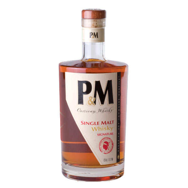 P&m single malt 7ans whisky de corse 42% - bouteille 70cl en étui
