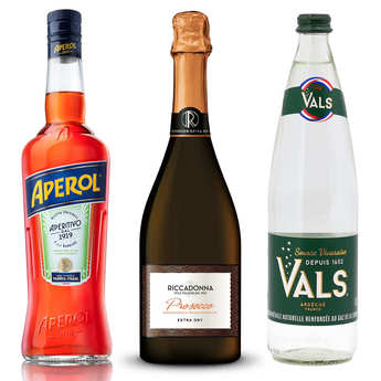 - Kit de préparation du cocktail Aperol Spritz
