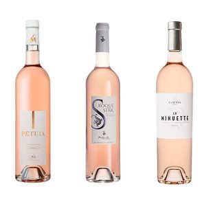 BienManger paniers garnis - 3 rosés plaisir de Provence