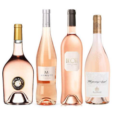 - 4 vins rosés prestige de Provence