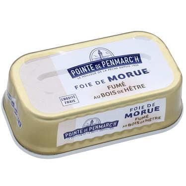 Foie de morue fumé au bois de hêtre ou d'aulne