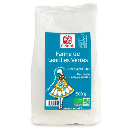 Celnat - Farine de lentille verte bio