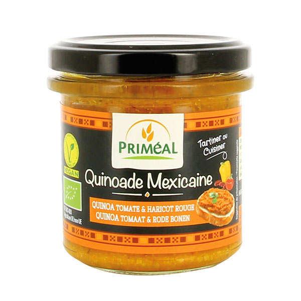 Quinoade mexicaine - quinoa, tomate et haricot rouge à tartiner bio