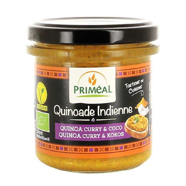 Quinoade indienne - quinoa, curry et coco à tartiner bio