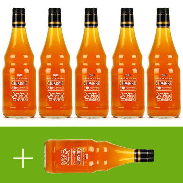 Vinaigre de cidre bio - La Hanère - 5 + 1 offert