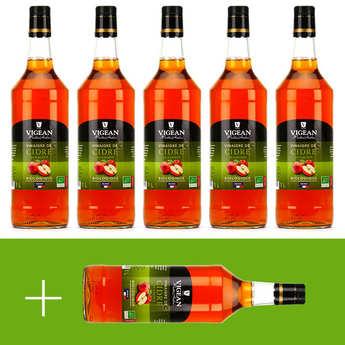Huilerie Vigean - Vinaigre de cidre bio Vigean - 5 + 1 offert
