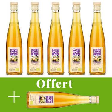 Vinaigre artisanal de cidre bio sans sulfite - 5 + 1 offert