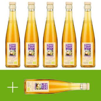 Aigre-doux Sud Cévennes - Vinaigre artisanal de cidre bio sans sulfite - 5 + 1 offert