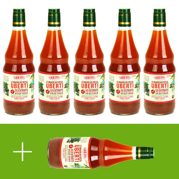 Organic cider vinegar Uberti - 5 + 1 free