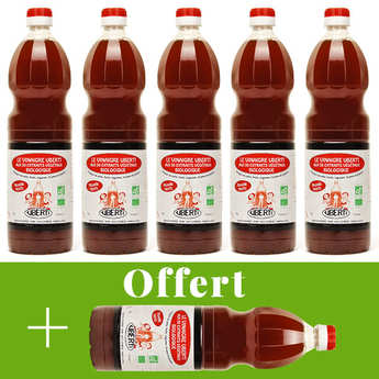 Mondial Uberti - Vinaigre de cidre bio sans sulfite Uberti - 5 + 1 offert