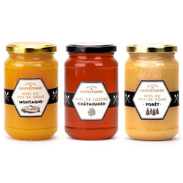 3 Assorted Honeys Maison Sauveterre