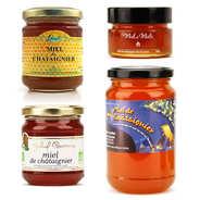 Assortiment de miels de châtaignier