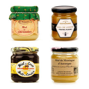 - Assortment of 4 delicious honeys