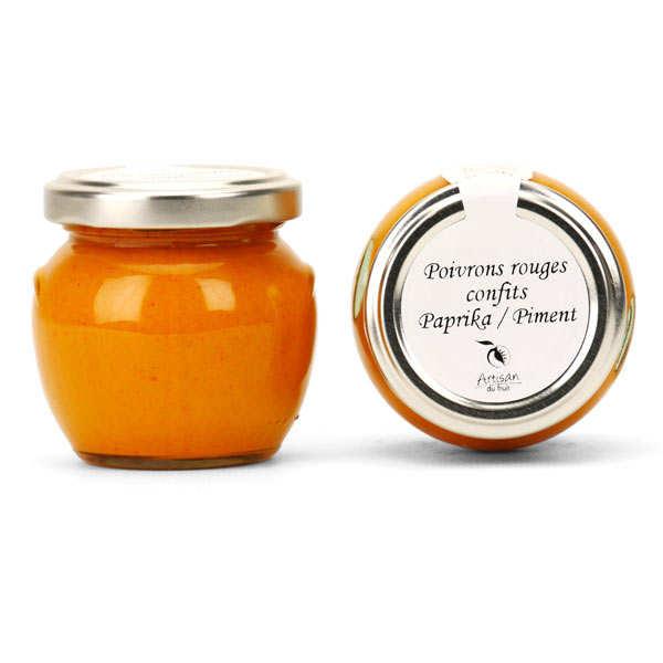 Crème de poivrons rouges confits au paprika et au piment