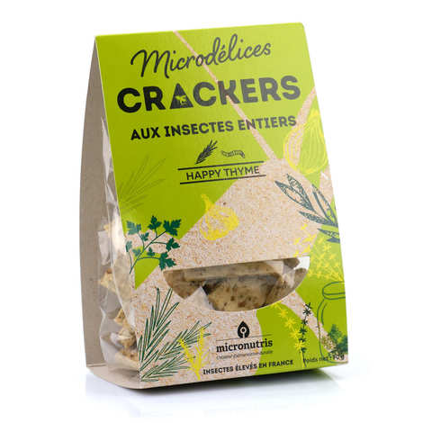 Micronutris - Rosemary, Thyme and Whole Mealworms Crackers