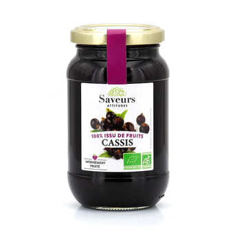 Saveurs Attitudes - Organic Blackcurrent Jam With No Added Sugar