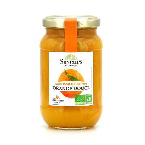 Saveurs Attitudes - Confiture d'orange douce bio sans sucre ajouté