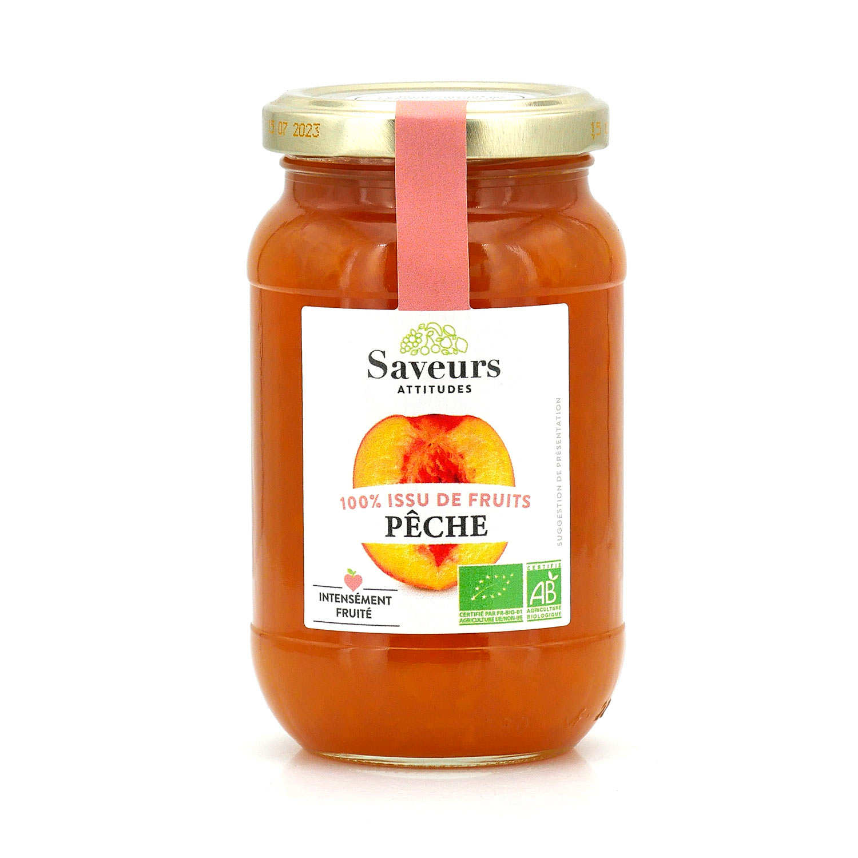 Organic Peach Jam With No Added Sugar
