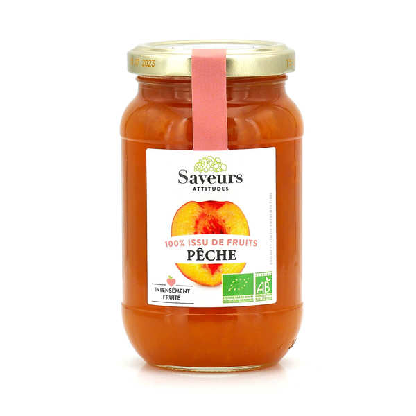 Organic Peach Jam With No Added Sugar