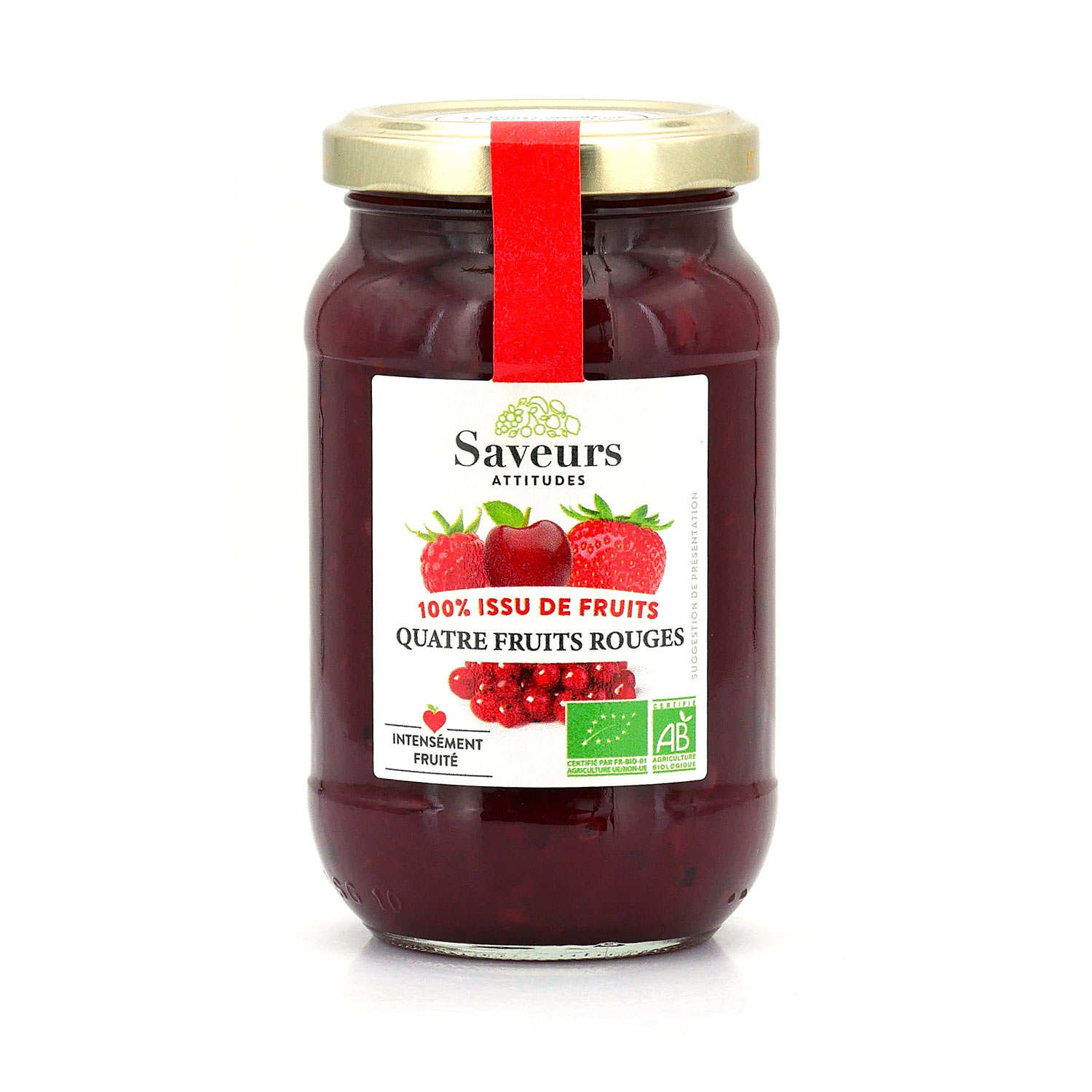 Organic Four Red Berries Jam With No Added Sugar