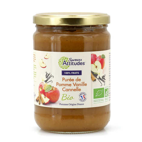 Saveurs Attitudes - Purée de pomme, vanille et cannelle bio